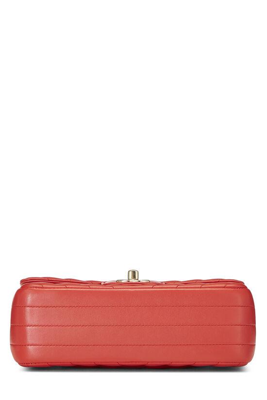 Red Chevron Lambskin Rectangular Flap Mini, , large image number 4