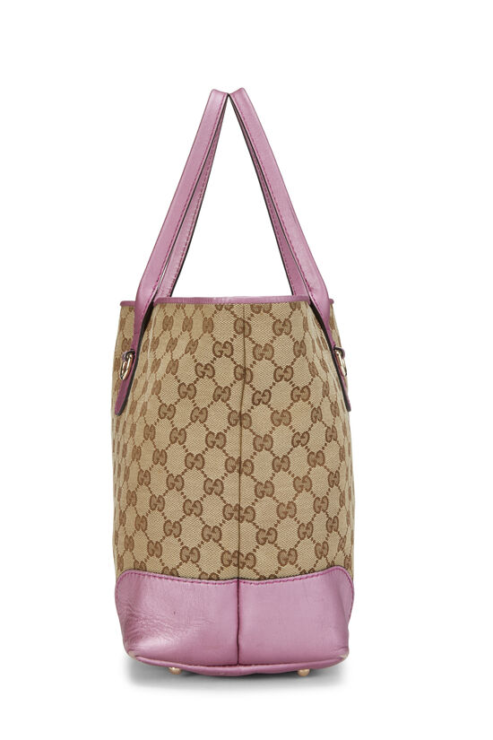 Pink GG Canvas Heart Bit Tote, , large image number 2