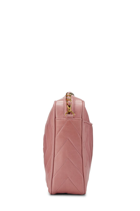Pink Lambskin Diamond CC Camera Bag Medium, , large image number 3