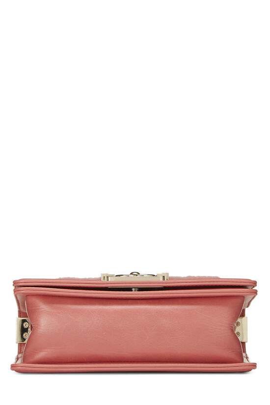 Pink Shearling Boy Bag Small, , large image number 4