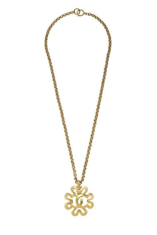 Gold 'CC' Border Necklace, , large image number 0