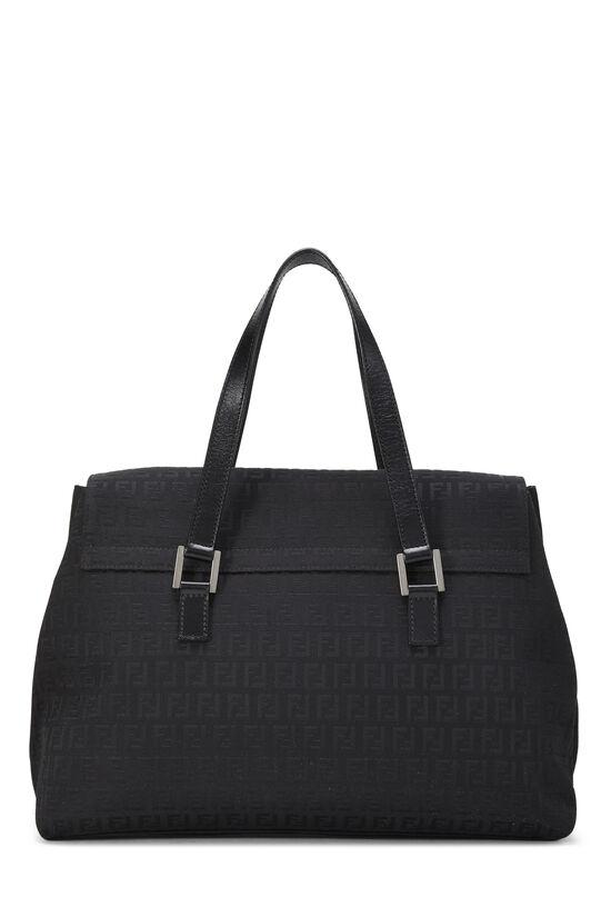 Black Zucchino Canvas Handbag Large, , large image number 3