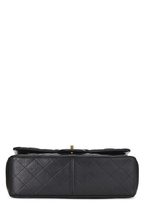 Black Quilted Lambskin New Classic Double Flap Jumbo, , large image number 4