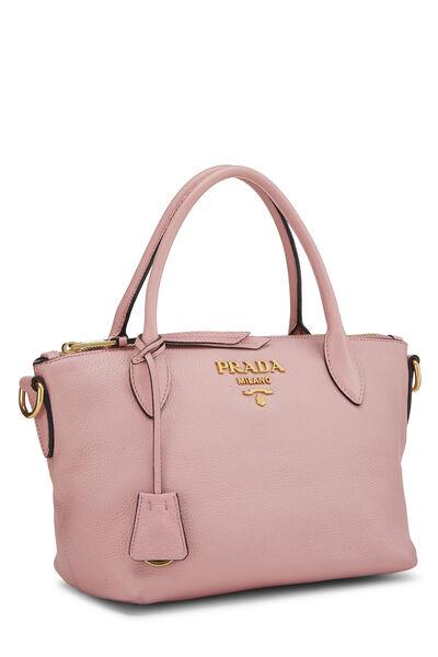 Pink Vitello Daino Handbag Small, , large