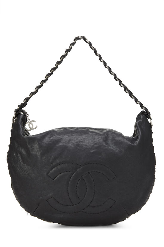 Black Calfskin Chain Hobo, , large image number 0