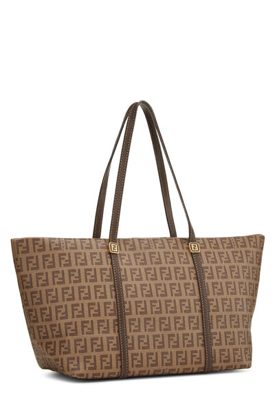 Brown Zucchino Coated Canvas Tote Small, , large