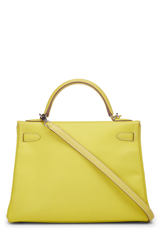 Limited Edition Lime & Gris Perle Epsom Candy Kelly Retourne 32, , large image number 3