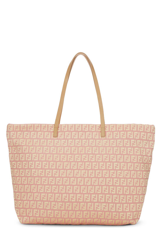 Pink & Yellow Zucchino Canvas Roll Tote, , large image number 3