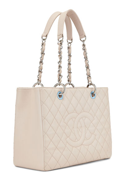 Pink Quilted Caviar Grand Shopping Tote (GST), , large