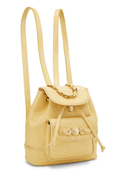 Yellow Ostrich Backpack, , large