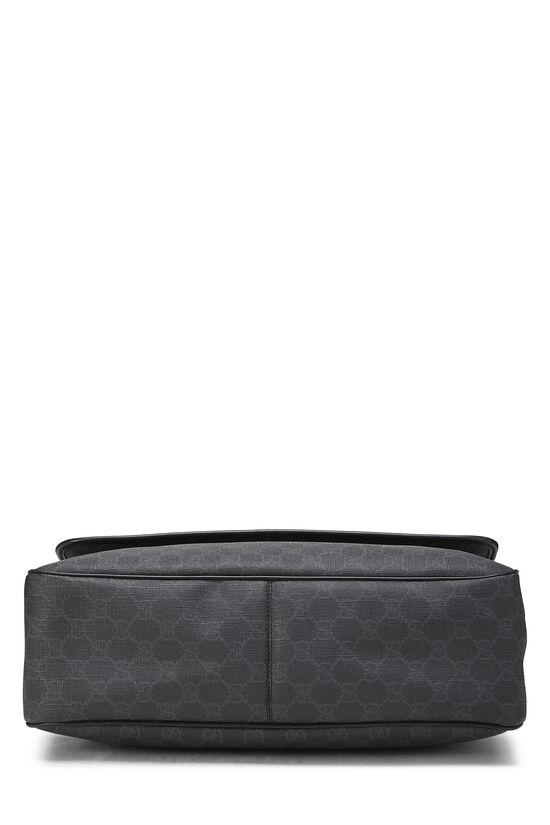 Black Original GG Supreme Canvas Messenger Bag Large, , large image number 4