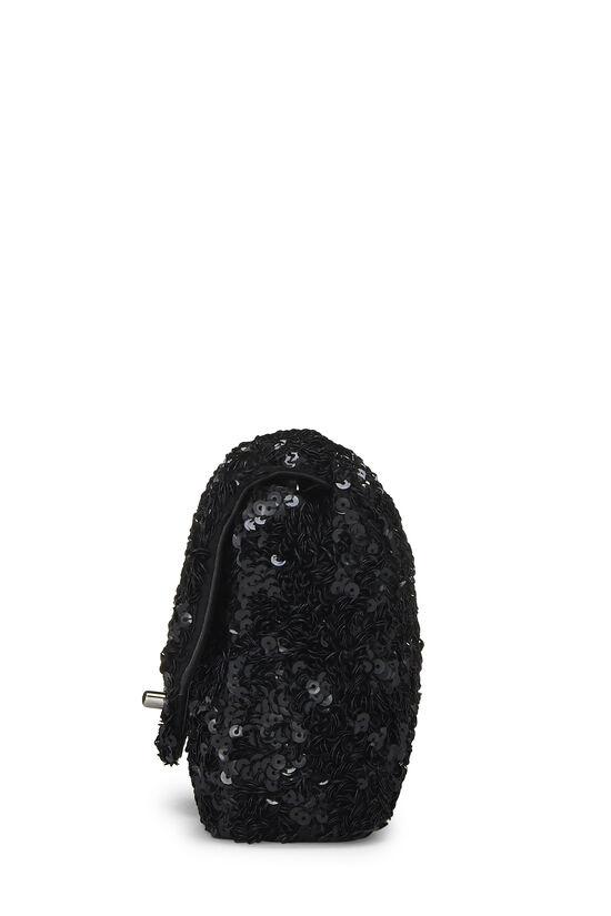 Black Sequin Half Flap Mini, , large image number 3