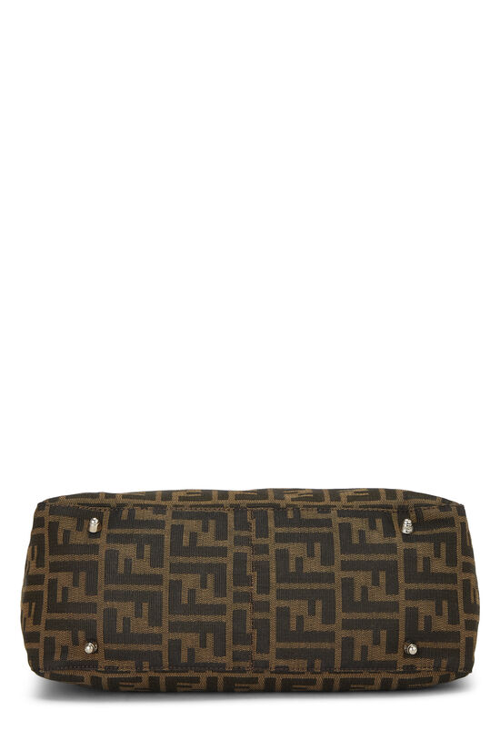 Brown Zucca Canvas Handbag Small, , large image number 4