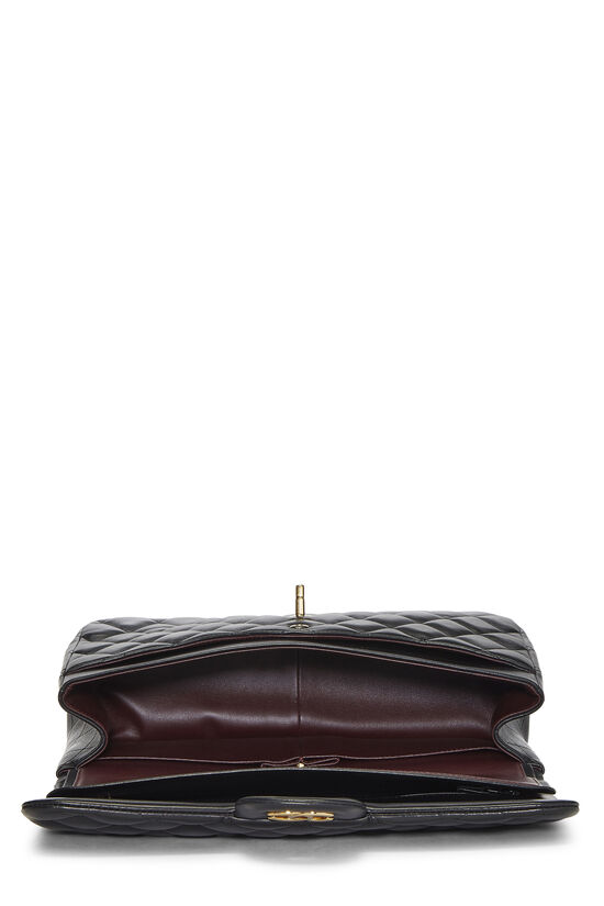 Black Quilted Lambskin New Classic Double Flap Jumbo, , large image number 5