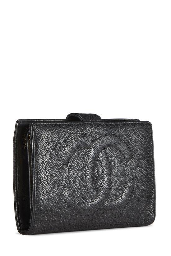 Black Caviar 'CC' Timeless Long Wallet, , large image number 1