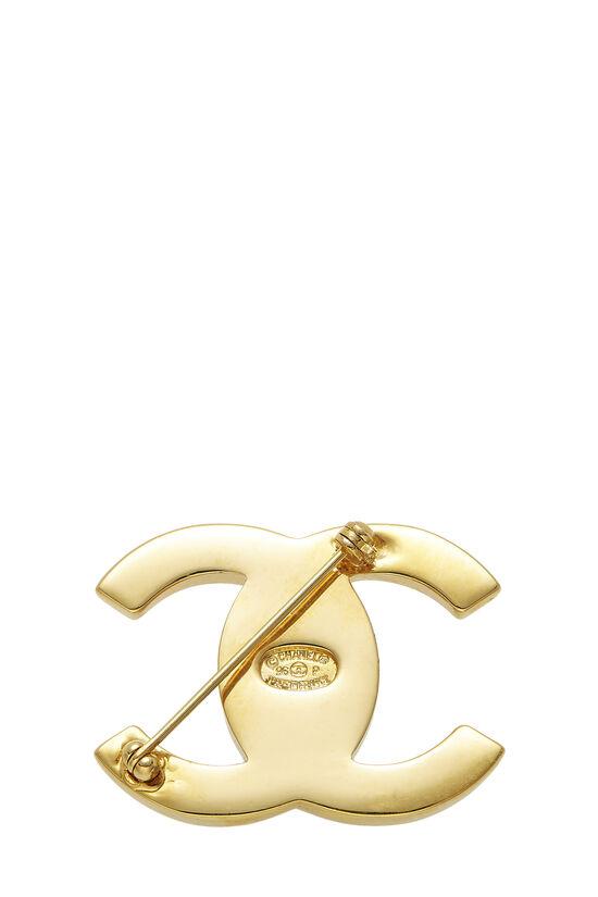 Gold 'CC' Turnlock Pin Large, , large image number 1