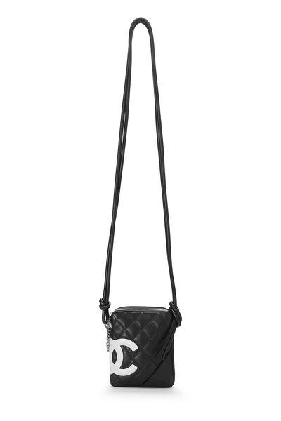 Black Quilted Calfskin Cambon Shoulder Bag Mini, , large