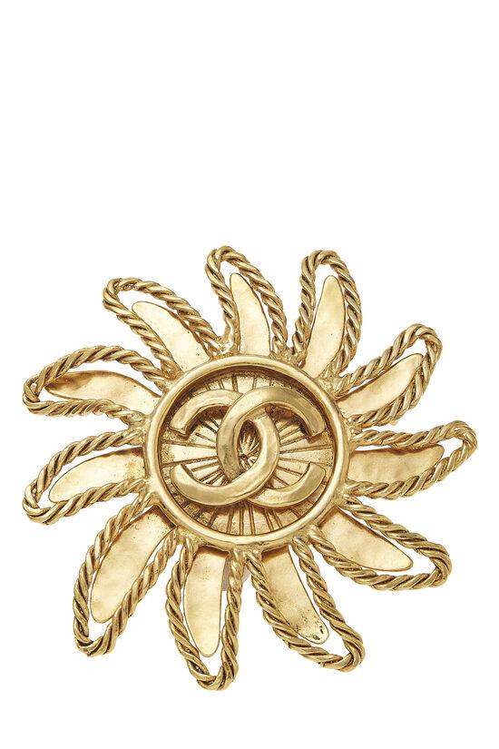 Gold 'CC' Sun Pin, , large image number 0