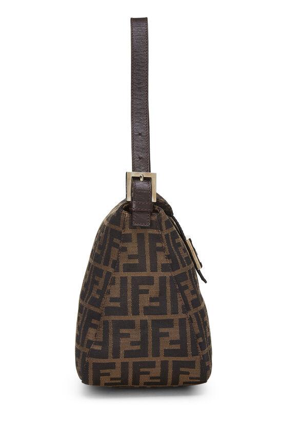 Brown Zucca Canvas Shoulder Bag, , large image number 2