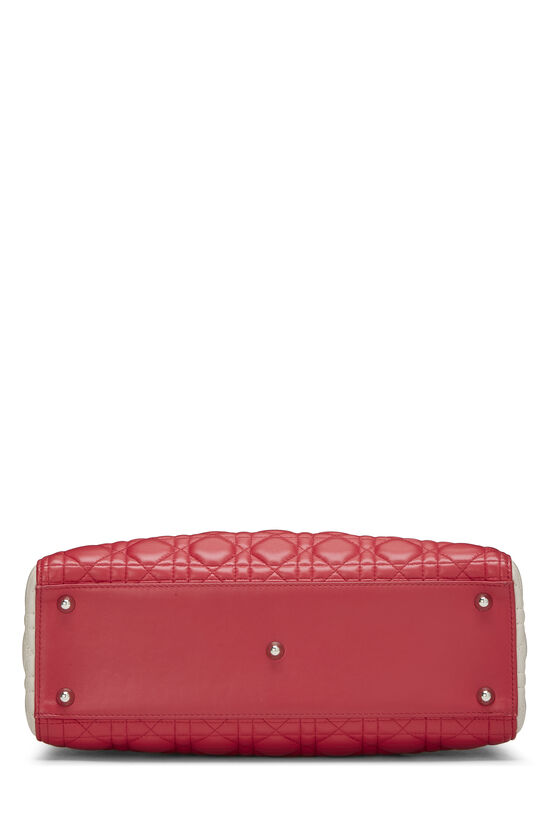 Pink Cannage Quilted Lambskin Lady Dior Large, , large image number 4