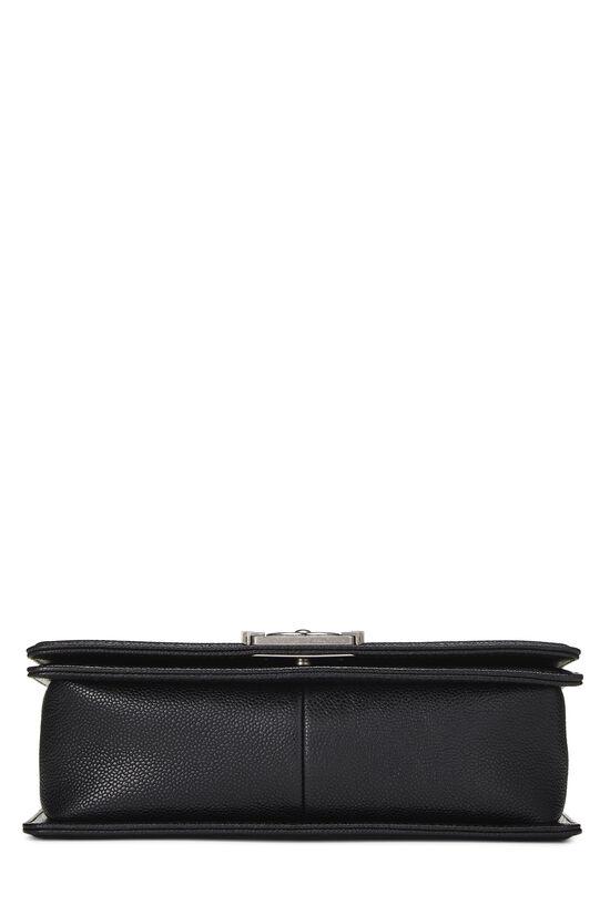 Black Quilted Caviar Boy Bag Medium, , large image number 4