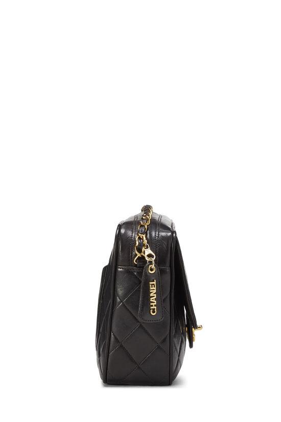 Black Quilted Lambskin Shoulder Bag Large, , large image number 2