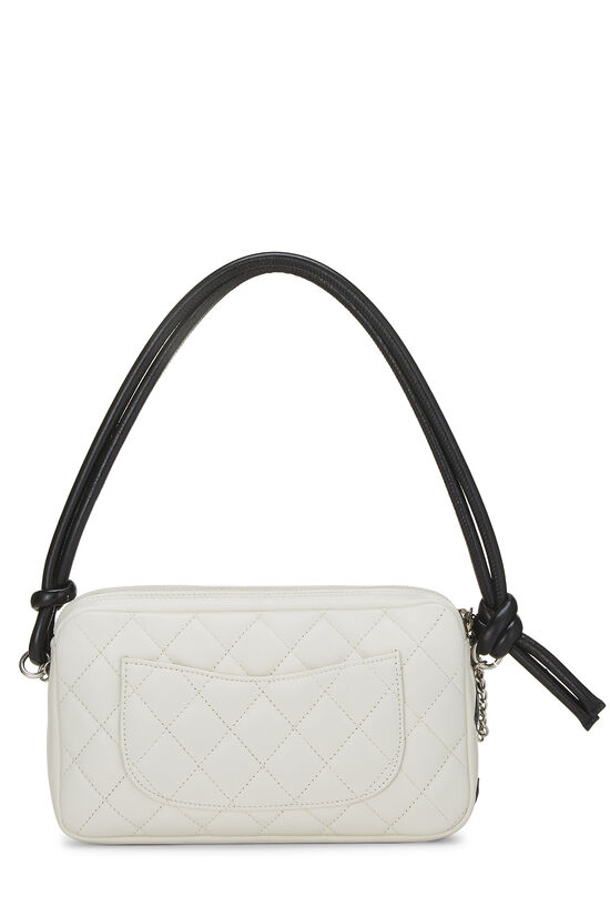 White Quilted Calfskin Cambon Ligne Pochette, , large image number 3