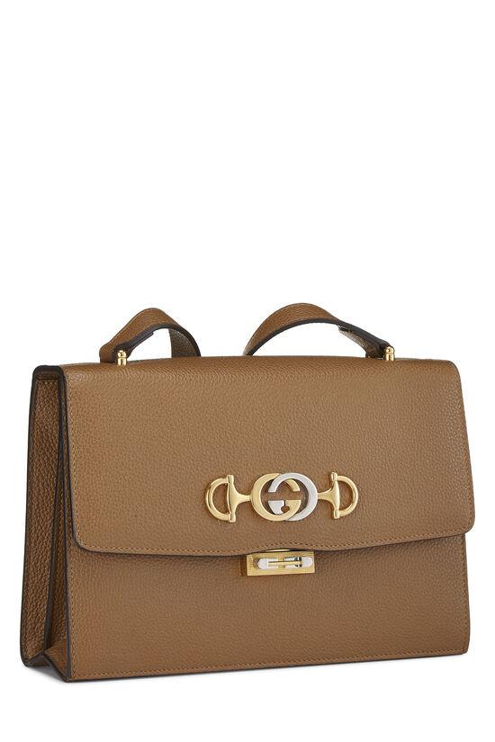 Brown Leather Zumi Shoulder Bag Small, , large image number 2