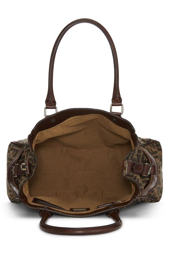 Brown Zucca Canvas Bag Du Jour, , large image number 5