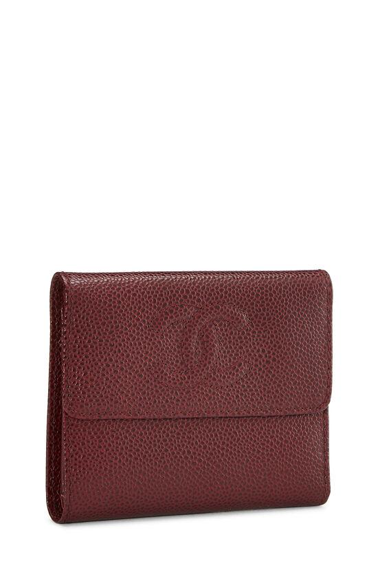 Burgundy Caviar CC Compact Wallet, , large image number 1