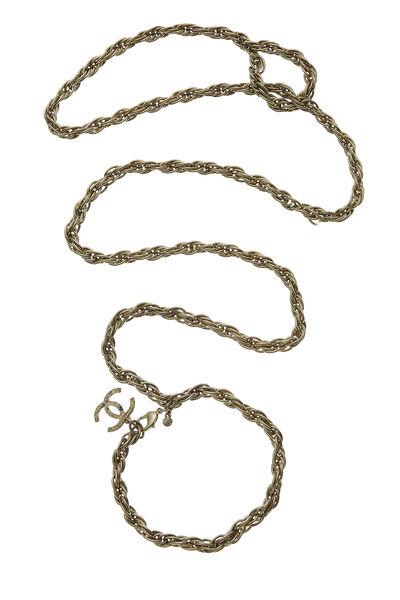 Gold 'CC' Chain Dog Leash 29