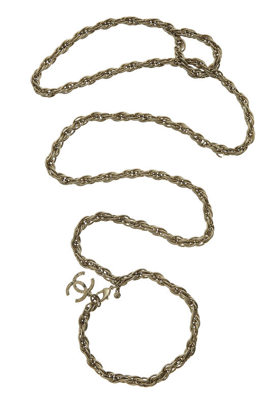 Gold 'CC' Chain Dog Leash 29, , large image number 0
