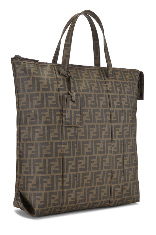 Brown Zucca Coated Canvas Vertical Tote Large, , large image number 1