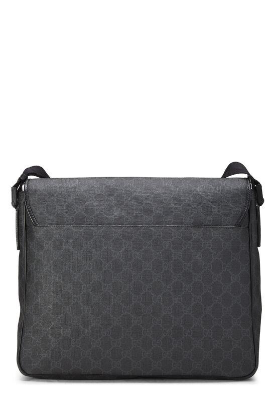Black Original GG Supreme Canvas Messenger Bag Large, , large image number 3