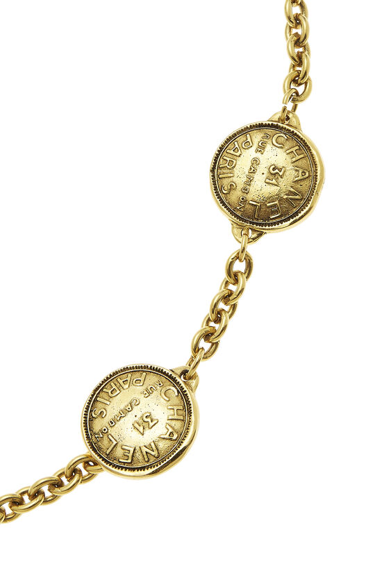 Gold Rue Cambon Chain Belt, , large image number 1
