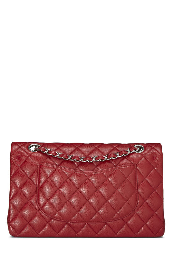 Red Quilted Caviar Classic Double Flap Medium, , large image number 3