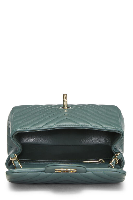 Green Chevron Lambskin Classic Flap Mini, , large image number 5