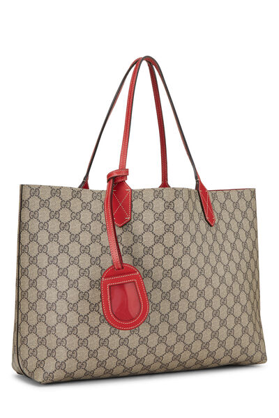 Original GG Supreme & Red Canvas Reversible Tote Small, , large