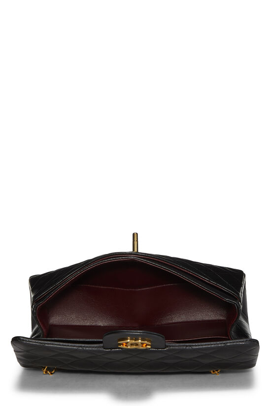 Black Quilted Lambskin Classic Double Flap Small, , large image number 5