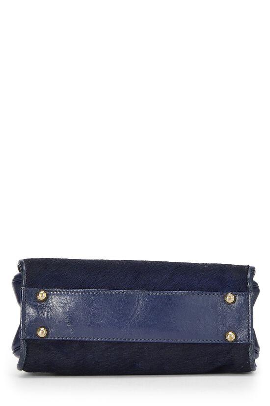 Navy Pony Hair Handbag, , large image number 4