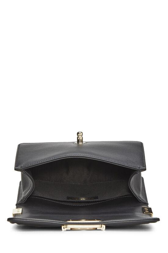 Black Chevron Lambskin Boy Bag Mini, , large image number 6