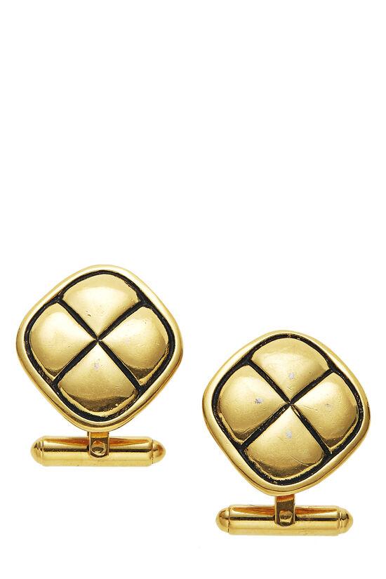 Gold Engraved Cufflinks, , large image number 0