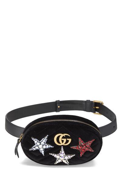 Black Velvet Star Marmont Belt Bag Mini