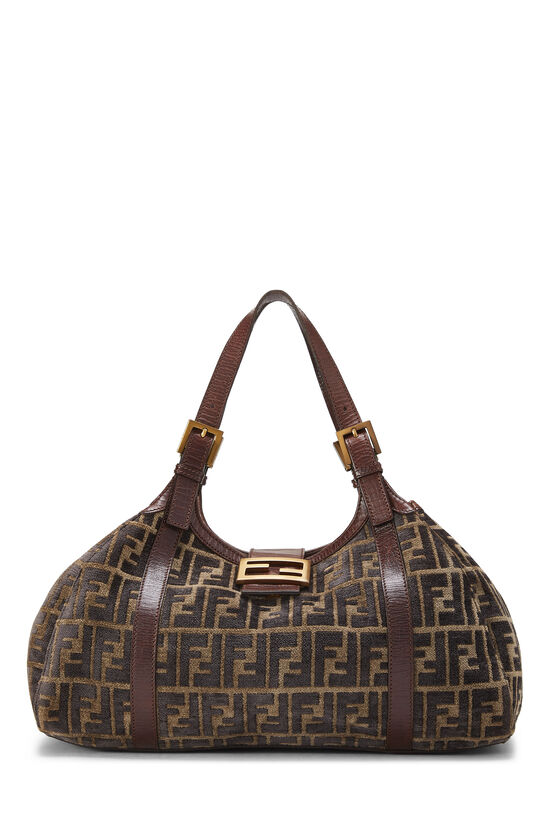 Brown Zucca Velour Borsa Sporty, , large image number 0