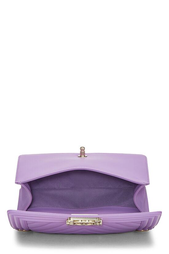 Purple Chevron Lambskin Boy Bag Medium, , large image number 6