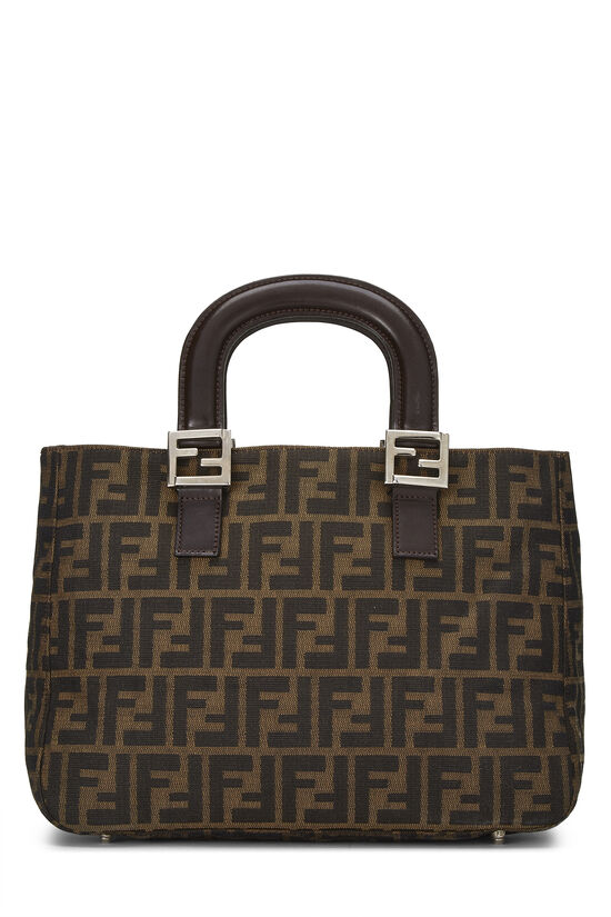 Brown Zucca Canvas Handbag Small, , large image number 0