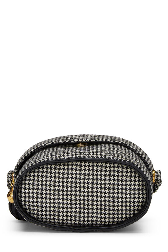 Black & White Wool Houndstooth Binocular Bag Small, , large image number 4