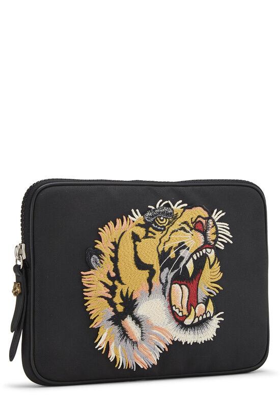 Black Nylon Tiger Tablet Sleeve Small, , large image number 1