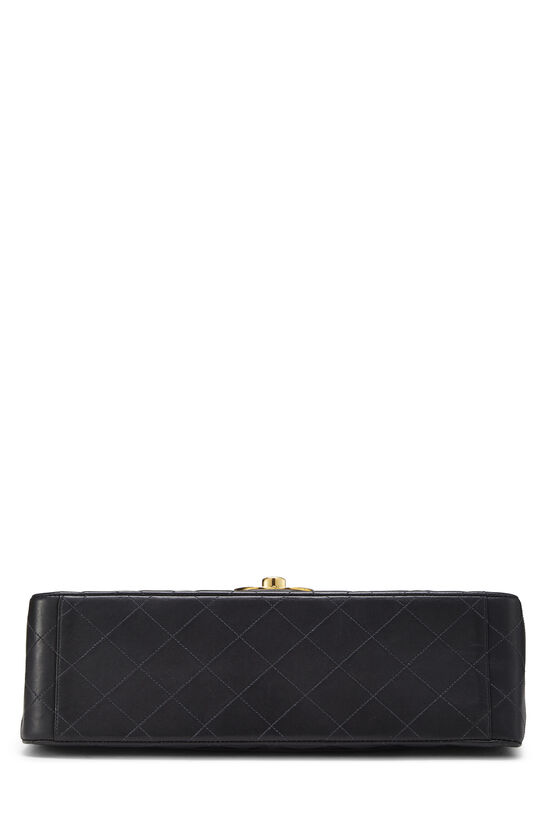 Black Quilted Lambskin Half Flap Maxi, , large image number 4