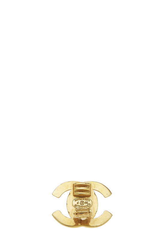 Gold 'CC' Turnlock Earrings Small, , large image number 2